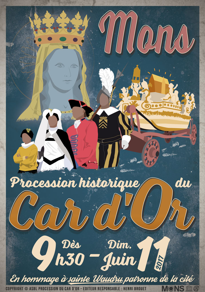 Affiche de la Procession du Car d'Or 2017