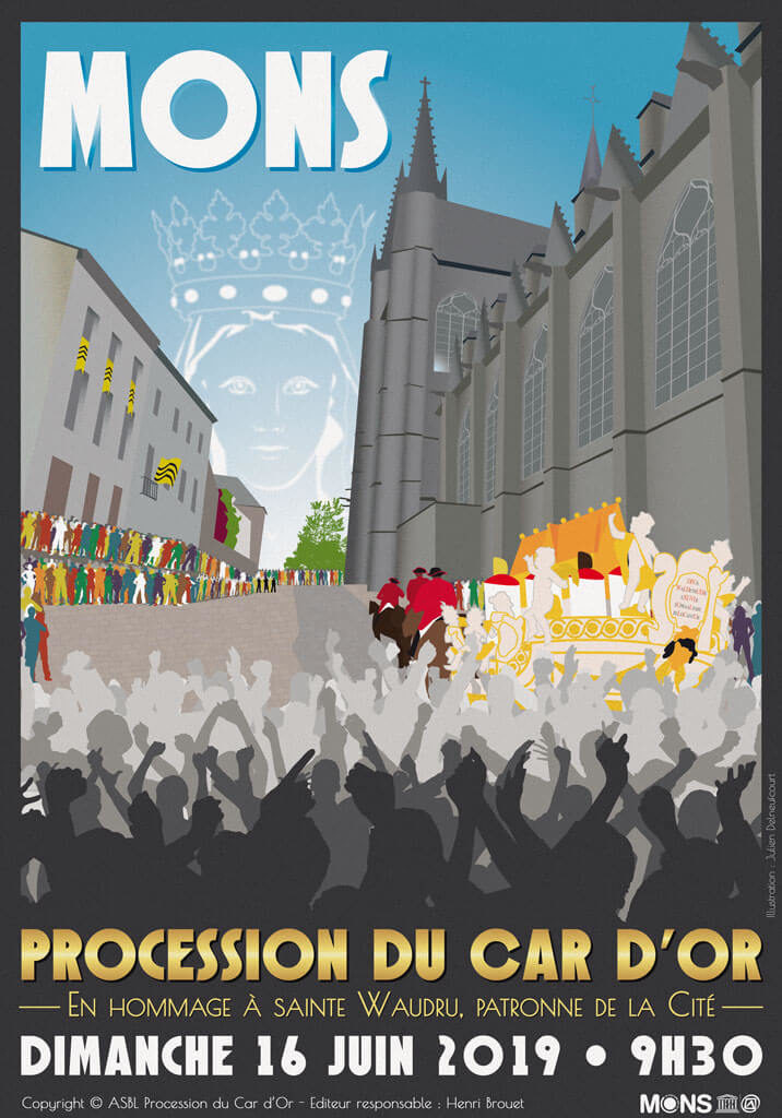 Affiche de la Procession du Car d'Or 2019